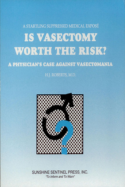 This book deals with a highly controversial subject: the long term risks of male sterilization by vasectomy.