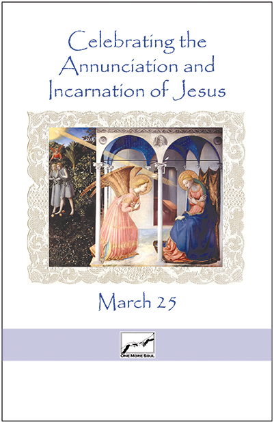 A simple and very effective guide for celebrating the Annunciation and Incarnation of the Lord.