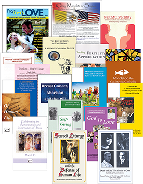 The One More Soul Booklet Packet contains one each of the booklets published by One More Soul covering topics such as contraception, breast cancer, teen abstinence, and Natural Family Planning