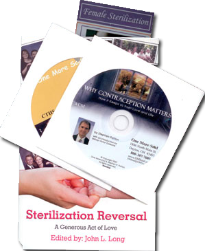 Materials for understanding the issues of sterilization and sterilization reversal and for encouraging sterilized couples to seek a reversal.
