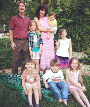 Drs Ben and Rebecca Peck and children