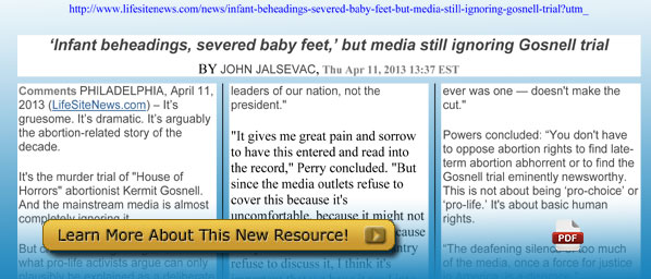 Infant beheadings, severed baby feet, but media still ignoring Gosnell trial
